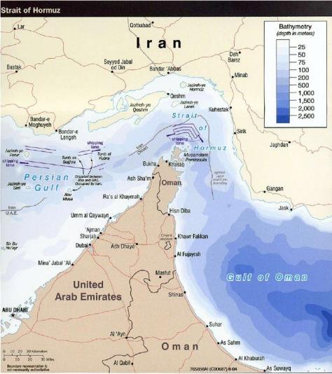 iran oman map