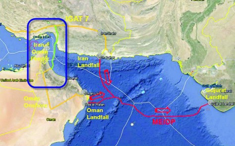 iran oman pipeline map