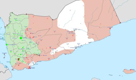 map yemen march 2016
