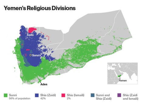 yemen religious divisions