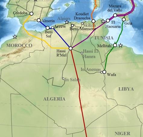 algeria pipelines map