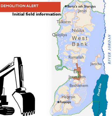 west bank demolition map