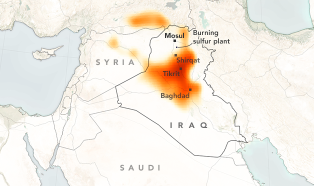 Toxic cloud from Mosul sulfur plant fire suffocates parts of Iraq, Syria and Turkey (EN, FR)
