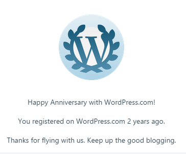 2 years on WordPress.com/ 2 ans sur WordPress.com