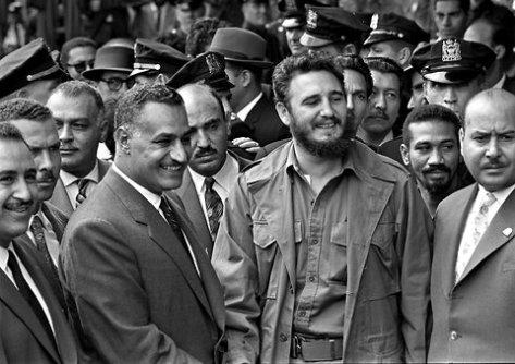 Nasser of Egypt Fidel Castro