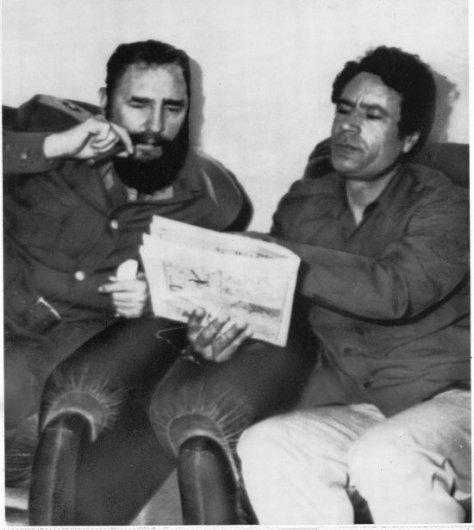 Visite de Fidel Castro en Libye le 8 mars 1977.