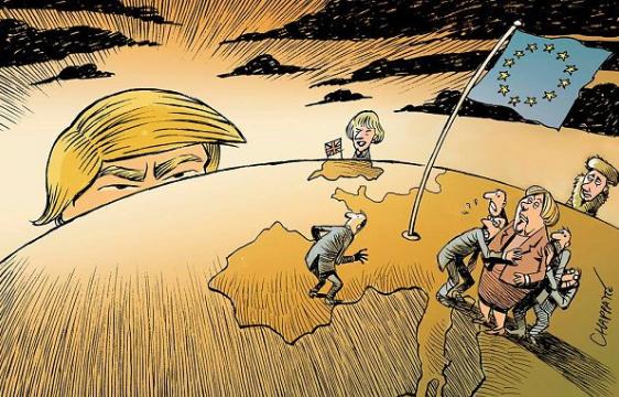The Netherlands welcomes Trump in his own words//Quand les Néerlandais présentent les Pays-Bas à Donald Trump
