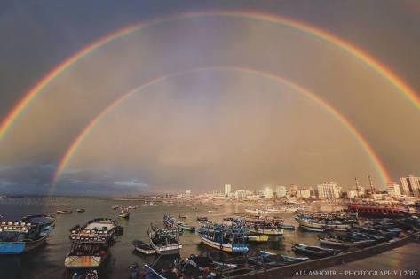 gaza double rainbow arc en ciel