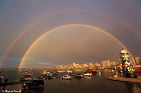 gaza arc en ciel double rainbow
