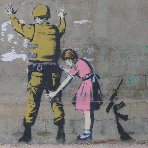 banksy soldier palestine