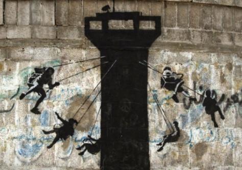 banksy gaza art children
