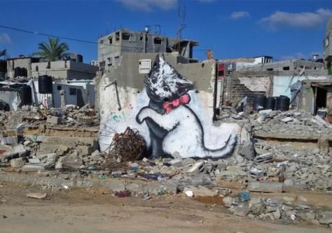 banksy cattie gaza