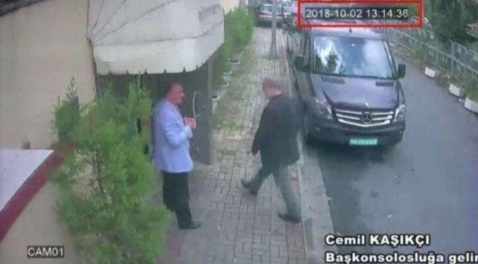 The mysterious disappearance of Saudi Arabian journalist Jamal Khashoggi in Istanbul, Turkey